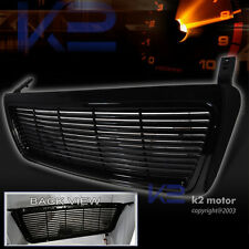 2004-2008 Ford F150 1Pc Black Billet Front Grille Grill