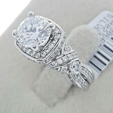Women's Ladies Female Real Solid 925 Sterling Silver CZ Promise Engagement Ring