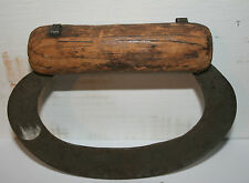 Antique Primitive Wood Handle Forged Blade Food Chopper Kitchen Tool