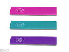 Soft Touch Sand Turtle Nail Files Disinfectable BERRY,TEAL,PURPLE 120grit 3-file