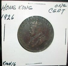 Slightly used Bronze 1926 XF Hong Kong Cent Excellent coin Look&bid/buy it now!!