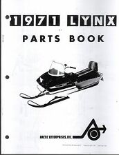 1971 ARCTIC CAT SNOWMOBILE LYNX  PARTS MANUAL