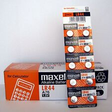 200 NEW LR44 MAXELL A76 L1154 AG13 357 SR44 303 BATTERY NEW