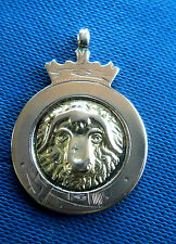 EARLY Super 9ct Rose Rams Head / Sheep Gold Fob Medal h/m 1924 - not engraved