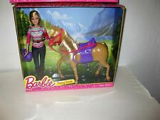 Barbie Doll with Tawny Horse Gift Set Brand New