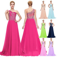 Wedding Bridesmaid Chiffon Ball Gown Evening Prom Party Dress Bead Long Cocktail