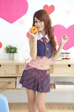 Estilo británico estudiante School Girl Cosplay Uniforme, Hen party Disfraz, Talla S/m