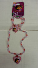 DORA THE EXPLORER GIRL KID  2 PIECES NECKLACE & BRACELET 100% ORIGINAL