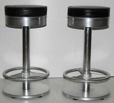 A Pair of Vintage INDECASA Spanish Aluminum Bar Stools - FREE Delivery [PL1776]