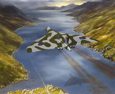 "Avro Vulcan RAF Bomber Plane Aircraft Painting Aviation Art Print 14"" Print"