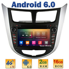 2GB RAM 4G Android 6.0 Car DVD Player Radio For Hyundai Solaris Accent Verna I25