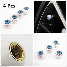 "4 x car bike ""EYE BALL"" tire/wheel air valve stem Caps Covers Set Novelty"