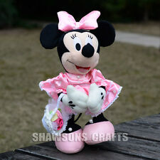 "DISNEY MICKEY MOUSE CLUBHOUSE PLUSH STUFFED TOYS MINNIE 12"" SOFT DOLL IN GOWN"