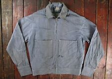 Vintage 50s 60s Unitog Union MADE DENIM RAYADO CHAQUETA de servicio Workwear EE. UU. largo 40
