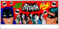 "BATMAN 1966 TV SERIES COLOR ART PRINT 8 1/2"" x 17"" - by PATRICK OWSLEY! SIGNED!"