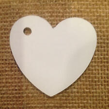 100 Heart Tags In White-Valentines - Wedding-Wish Tree Tags With Jute String SP