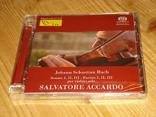 Audiophile Bach Partitas and Sonatas for Solo Violin ACCARDO FONE 2 SACD NEW SS