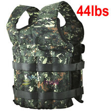 New 44LB Adjustable Weighted Camo Workout Weight Vest Training Fitness-US STOCK