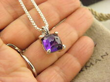 David Yurman Chatelaine Pendant Necklace with Amethyst and Diamonds.
