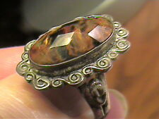 Sterling Silver 925 ring BOULDER OPAL  NATURAL BAND SOLITAIRE  SZ 7