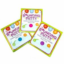 Set of 3 Bouncing Putty Toys - Bounce, Mould, Stretch & Mix! Ball Toy Fillers