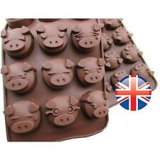 *UK Seller* Silicone 15 Cute Pig Oink Cake Chocolate Ice Cube Baking Mould Mold