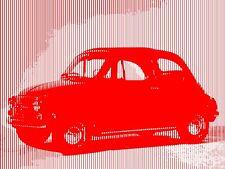 QUADRO STAMPA SU TELA YOUDA FIAT 500 70X50 ANNI 50 DESIGN ARREDO