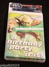 "Hallmark Star Wars ""A Birthday Party, it is!"" Yoda Birthday Invitation Card, 8ct"
