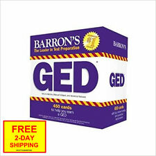 Barron's GED Test Flash Cards, 2nd Edition: 450 Flash Cards to Help You Achieve