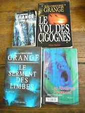 Lot de 4 livres de Jean-Christophe Grangé La ligne noire Le vol des cigognes