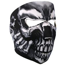 Assassin Skull Revolver Gangster Neoprene Face Mask ATV Ski Biker Costume Black