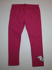 New Gymboree Pink Dot Dachshund Dog Leggings Pants Size 2T Everyday Basics Line