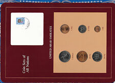 Coin Sets of All Nations UAE United Arab Emirates UNC 1973-1984 w/card