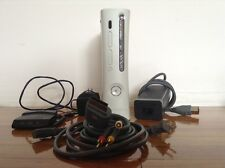 Microsoft Xbox 360 Pro 60 GB White w/ 2 Controllers, 4 Games, Network Adapter!