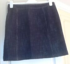 M&S Ladies Navy Lined Pure Cotton 'A' Line Mini Skirt Size 12 - EUR 40 - BNWT