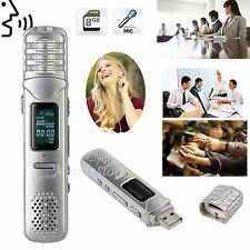 Digital 8GB Rechargeable Dictaphone USB Sound Voice Recorder MP3 Player Earphone