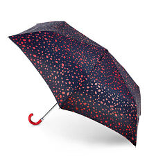 Lulu Guinness by Fulton Superslim Umbrella - Roughly Cut Out Spot Red