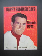 Happy Summer Days by Ronnie Dove sheet music