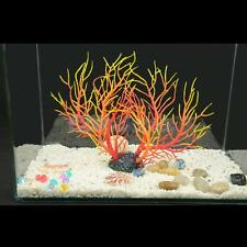 Aquarium Fish Tank Artificial Coral Ornament Aquatic Plant Decor Red Yellow