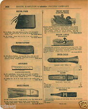 1920 PAPER AD Hollow Canvas Collapsible Duck Hunting Decoys Carved Wood Standard