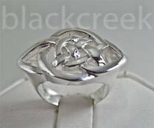 925 Sterling Silver ~ Lady's ~Celtic Knot~  Ring ~  17 mm~  Size 6