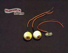 "Halloween,Props,""my Zombie is watching you"" custom-made GREEN prop eyes"" !!!!"