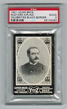 """PSA 2 RUDYARD KIPLING 1901 Lever Bros Card The Author of """"The Jungle Book"""""""
