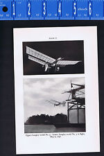 Langley Model No. 5 Aerodrome & Manly radial Engine -1939 Smithsonian Print