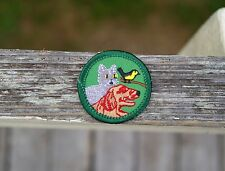 """Girl Scouts Two Embroidered Patches Badge Pet Care Cat Dog Bird Animal 1 1/2"""""""
