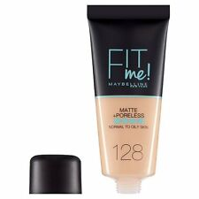 Maybelline Fit Me Matte Poreless Foundation 128 Warm Nude NEW