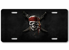 Pirates of the Caribbean Jack Sparrow Black Pearl Car skull Tag License Plate