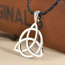 "Celtic Knot Triquetra Trinity Pewter Pendant with 20"" Choker Necklace"
