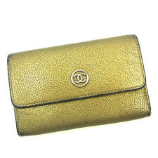 Auth Sale Chanel coin purse COCO Button unisexused J17266