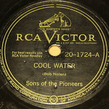 """SONS OF THE PIONEERS """"Cool Water & Stars & Stripes"""" RCA VICTOR 78rpm 10"""""""